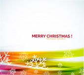 Colorful Christmas winter snowflakes abstract background
