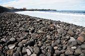 Pebble Stone Filled Beach