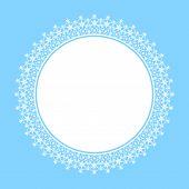 White frame of snowflakes