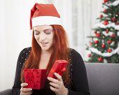 Girl Is Unhappy Open Christmas Present