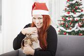 Girl Hold Christmas Presentand Keep It