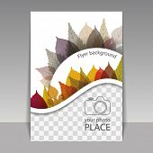Flyer or Cover Design with Space for Your Photo - Autumn Leaves