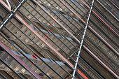 Modern Metal Scaffolding On The Building Facade
