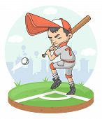 Baseball Boy Player League Player Softball Stadium.eps