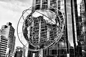 Globe In New York, Black And White