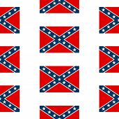 stock photo of confederation  - Confederate States of America seamless pattern on white background - JPG