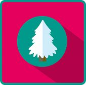 flat icon Christmas tree