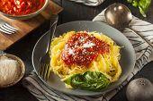 Homemade Cooked Spaghetti Squash Pasta