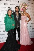 LOS ANGELES - OCT 15:  Sue Wong, Dave Navarro, Katie Cleary at the Sue Wong