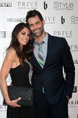 LOS ANGELES - OCT 15:  Lindsay Hartley, Jason Shane Scott at the Sue Wong