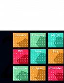 Simple 2015 year vector calendar