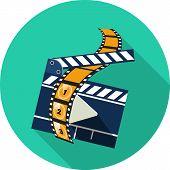 Vector Movie Clapper Board