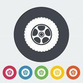 Icon car wheel.