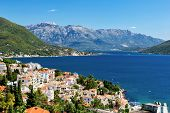 stock photo of yugoslavia  - View of the Boka Kotorska Bay of Herceg Novi Montenegro