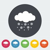 Snowfall single icon.