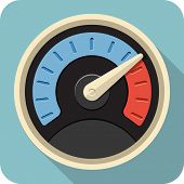Vector Speedometer Flat Icon