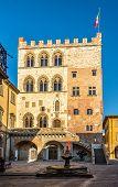 Palace Pretorio With Fountain In Prato
