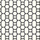 Vector Seamless Pattern Curve Monochrome Background