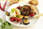 Poached egg with roasted vegetables