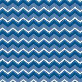 Blue And White Chevron