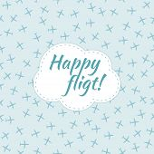 Happy flight. Seamless planes pattern