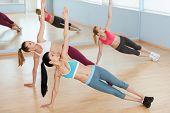 Women On Aerobics Class.