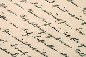 Old Handwriting. Grunge Paper Background