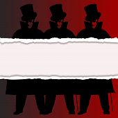 pic of ripper  - A Jack the Ripper background with shadows and rip and silhouette over a red background - JPG