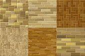 Set Of Wood Floor Seamless Generated Textures