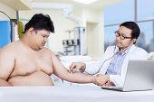 Hispanic Doctor Examined His Patient