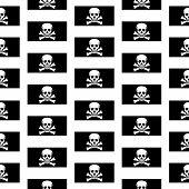 Jolly Roger Seamless Pattern