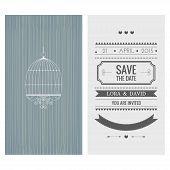 Wedding invitation card. Save the date