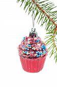 Xmas retro tree cupcake toy