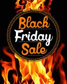 Black Friday Sale on flaming background