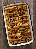 Rustic Traditional British Bread And Butter Pudding