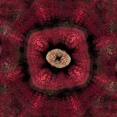 Colony of dangerous bacteria  under microscope