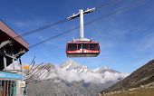 Cable car to Matterhorn mountain