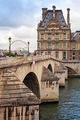 The New Bridge And Louvre Museum, Paris