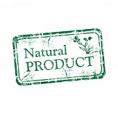 Natural product grunge rubber stamp