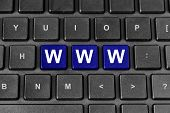 Www Or World Wide Web Word On Keyboard