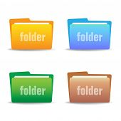 Set of four folders