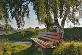 bench for outdoor recreation
