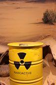 Lizard On A Barrel Of Radioactive Waste