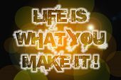Life Is What You Make It Concept