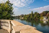 The Po river, Turin
