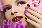 Manicure with Orchid.