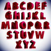 foto of verbs  - 3D font - JPG