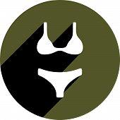 Women underwear icon isolated. Clothing theme symbol