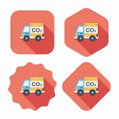 Environmental Protection Concept Flat Icon With Long Shadow,eps10