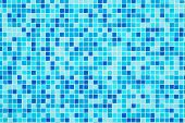 Blue Tiles Background - Bottom Of A Swimming Pool